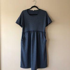 Pink Blush blue short sleeve dress